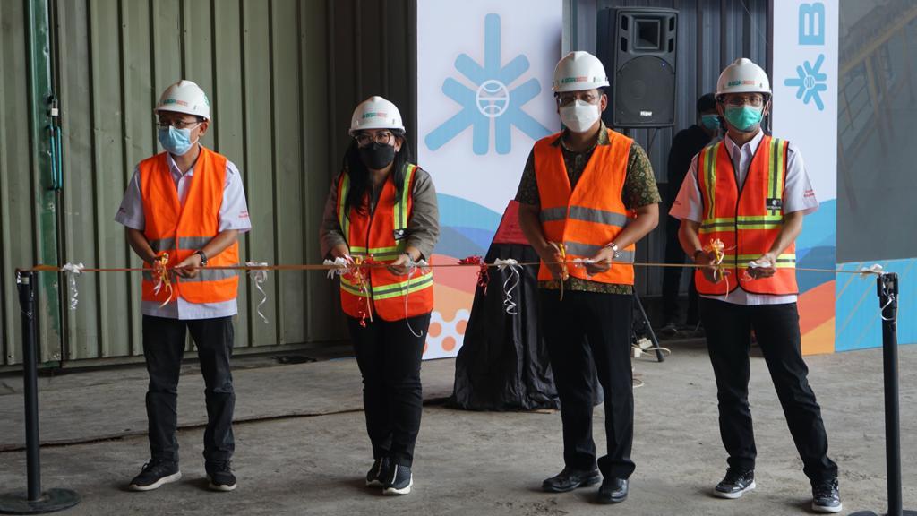 Direksi RNI Menghadiri Peresmian Gudang Modern Unit Pengantongan Pupuk BGR Logistics Divre Medan